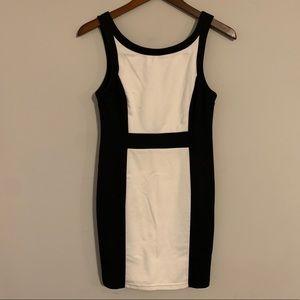 Forever 21 Black and White Block Dress